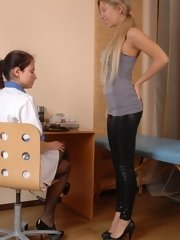 Gynecologist examines her potential... lesbian xxx