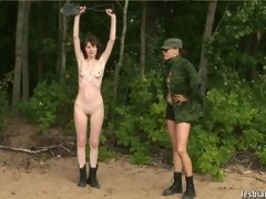 Nude lesbian soldier exercised and fucked lesbian xxx